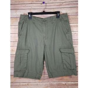 🌸 Sonoma Green Cotton Casual Pocket Cargo Shorts
